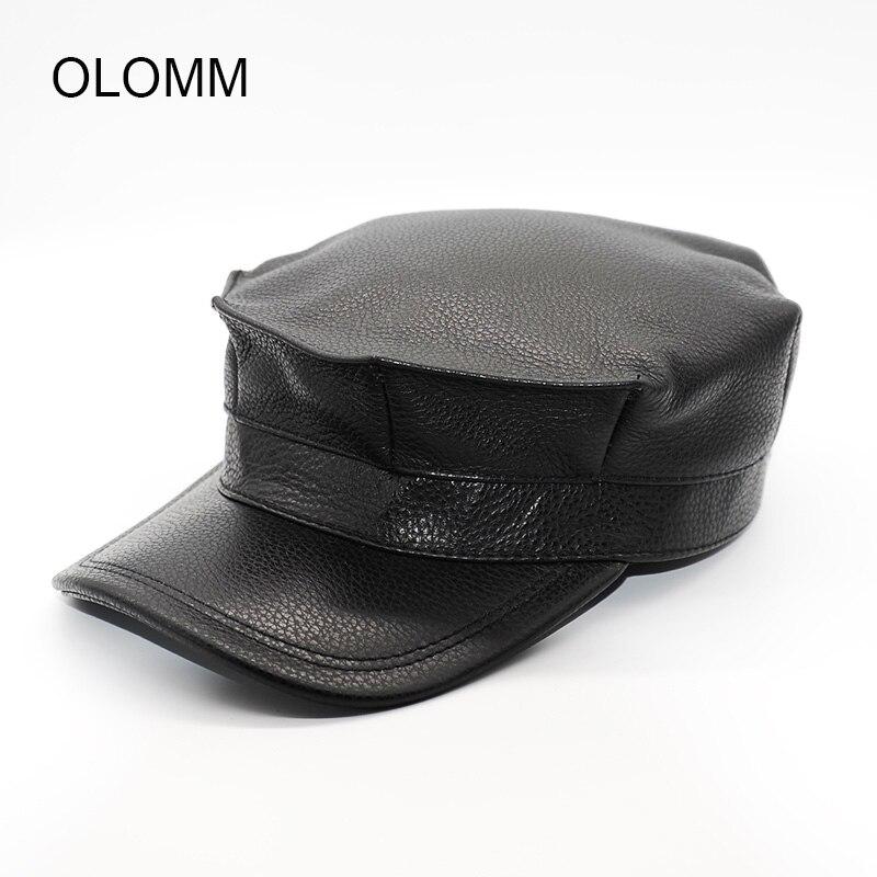 قبعة أبي قبعة عسكرية الدفء مع آذان حقيقية قبعة من الجلد القبعات الشعبية B1