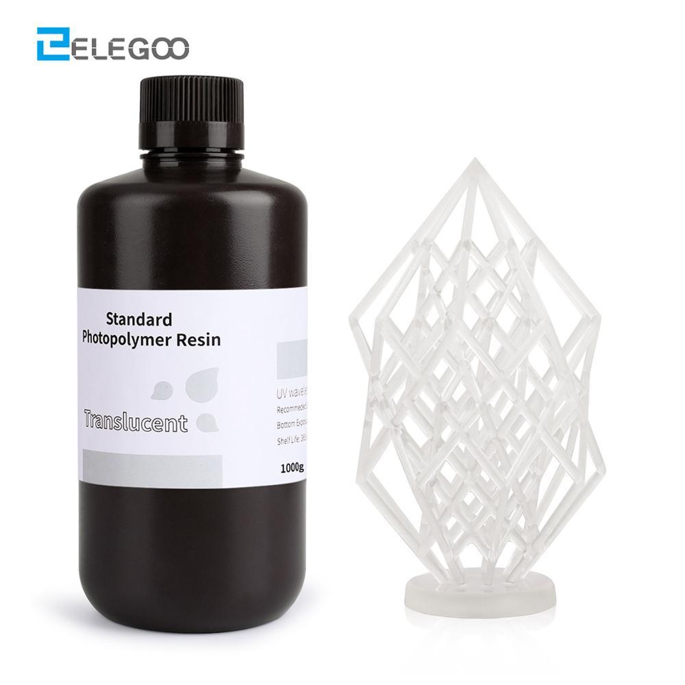ELEGOO 3D Printer Resin LCD UV-Curing Resin 405nm Standard Photopolymer Resin for LCD 3D Printing 1000ml Translucent