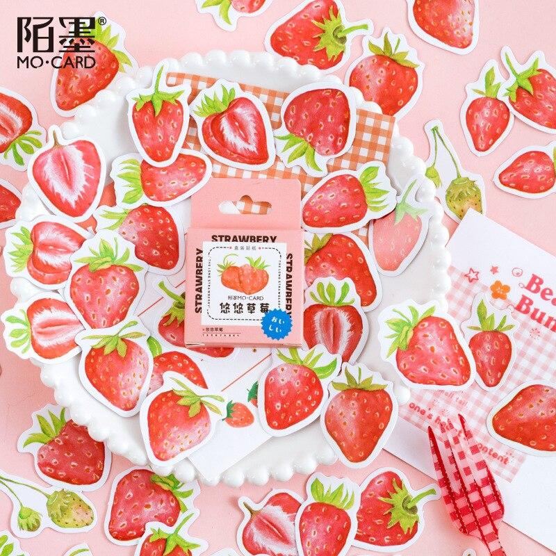 45-pz-scatola-adesivi-fragola-carino-frutta-di-viaggio-adesivi-decorativi-scrapbooking-cancelleria-stick-etichetta-album-diario-adesivi