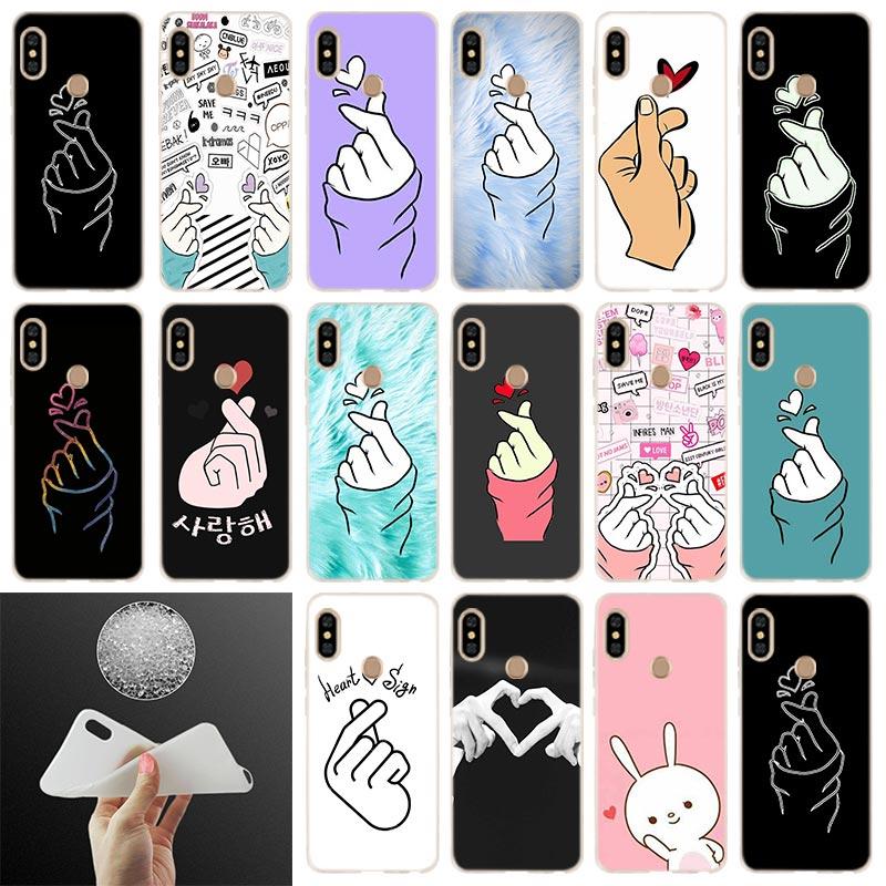 k pop Love on the finger kpop Soft Case Cover For Xiaomi Redmi 8a 7a 6pro 6a s2 5a 5plus Note 9 8 7 6 5 4 Pro Coque Etui Cases