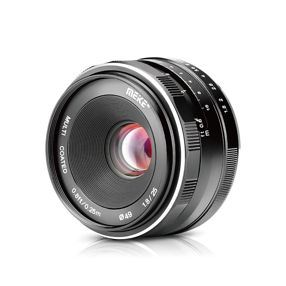 Meike 25mm f1.8 grande abertura grande angular lente manual para fujifilm X-T20 X-T2 X-E3 X-T1 X-A2 X-E2 X-E2s X-E1 câmeras + presente