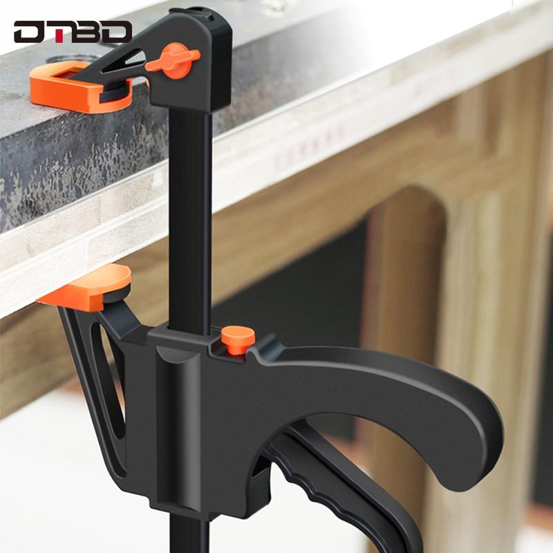Pince de barre de travail d'écarteur, pince F, outil de compression de la vitesse de la main de bricolage, kit de clip à dégagement rapide 4 pouces travail du bois