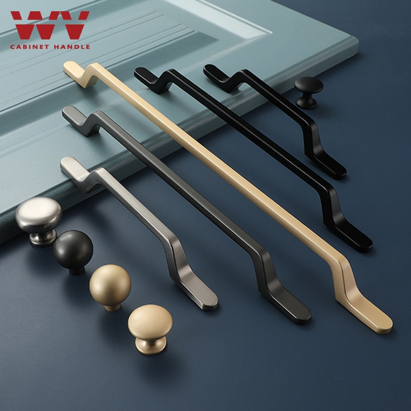 Tiradores de gabinete dorado, WV gris perla, tiradores de cajón sólidos de 192MM, tiradores de armario de cocina, tiradores de puertas, tirador de mueble, Hardware 6021