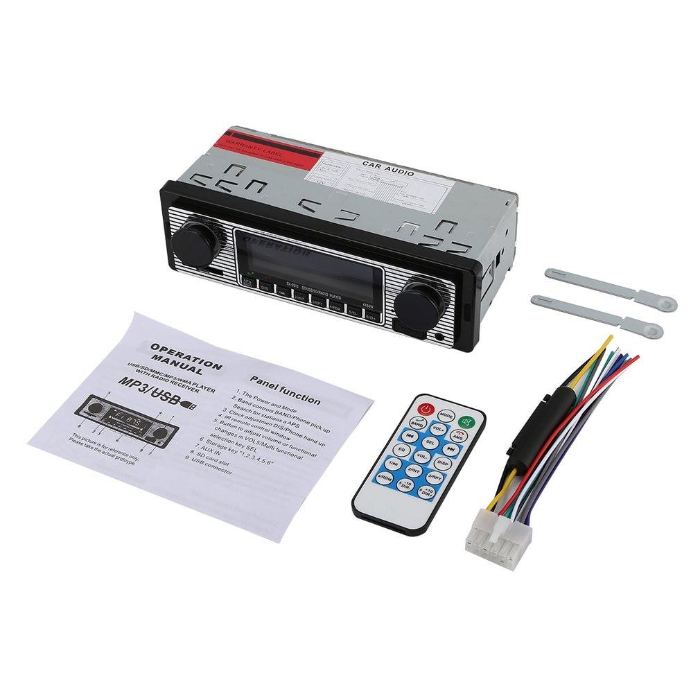 Bluetooth Vintage Autoradio Mp3-speler estéreo USB AUX Klassieke estéreo para coche Audio reproductor MP3 entrada EQ 4 vías RCA salida