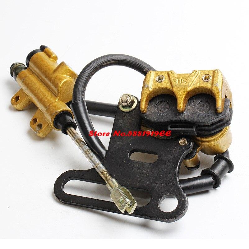 Sistema de frenos traseros hidráulicos de 500mm, montaje KAYO BSE XMOTOR Dirt Bike Pit Bike, cilindro maestro, calibrador de manguera