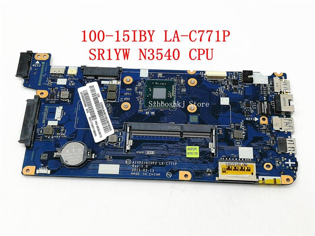 AIVP1/AIVP2 LA-C771P האם עבור Lenovo B50-10 100-15IBY מחשב נייד האם FRU 5B20J30778 עם N3540 מעבד (עבור אינטל מעבד)