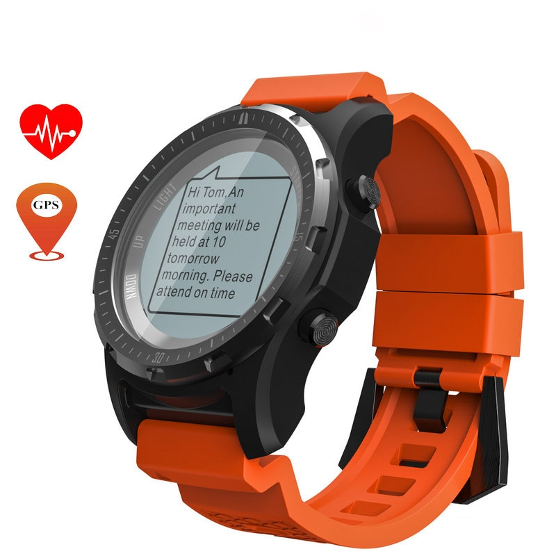 Reloj inteligente con GPS S966, Monitor de ritmo cardíaco, rastreador de Fitness Multideportivo, reloj de pulsera, brújula con Bluetooth, altitud, reloj inteligente deportivo para hombres