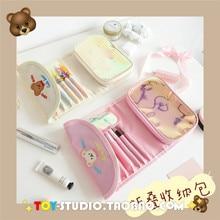 Fashion Mini Purse Travel Wash Bag Toiletry Make Up Case cute bear Cosmetic Bag Organizer Beauty Pouch Kit Makeup Pouch