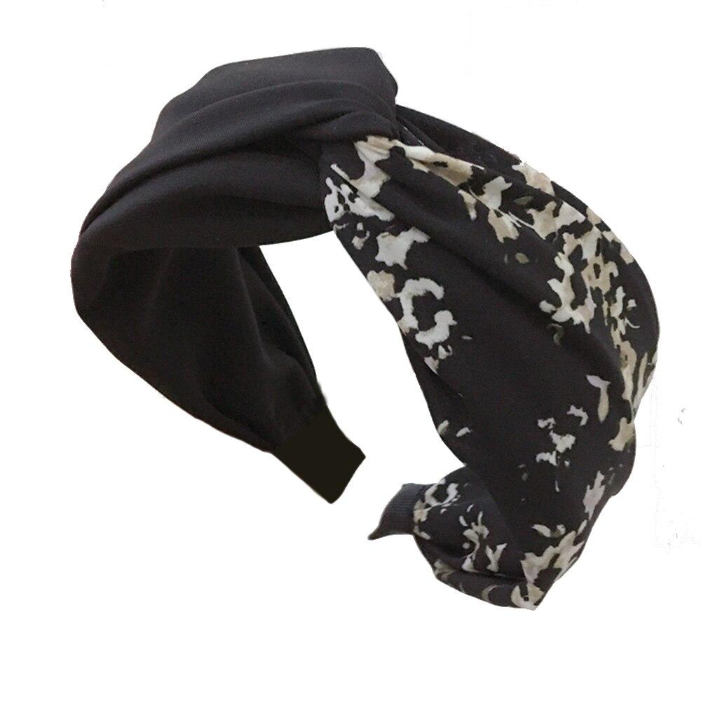 Marca D Água Floral Cruz Atada HO-KLOSS Prinited 4 Cores Wide-brimmed Cocar-High grade Tecido Acessórios Headband Hir