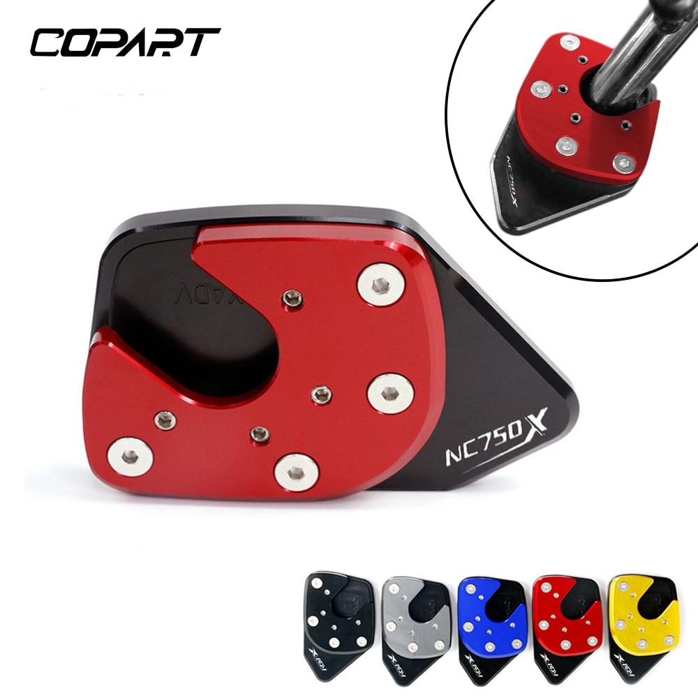 For HONDA NC750X NC 750X NC750 X 2014-2021 Motorcycle CNC Foot Side Stand Pad Plate Kickstand Enlarg