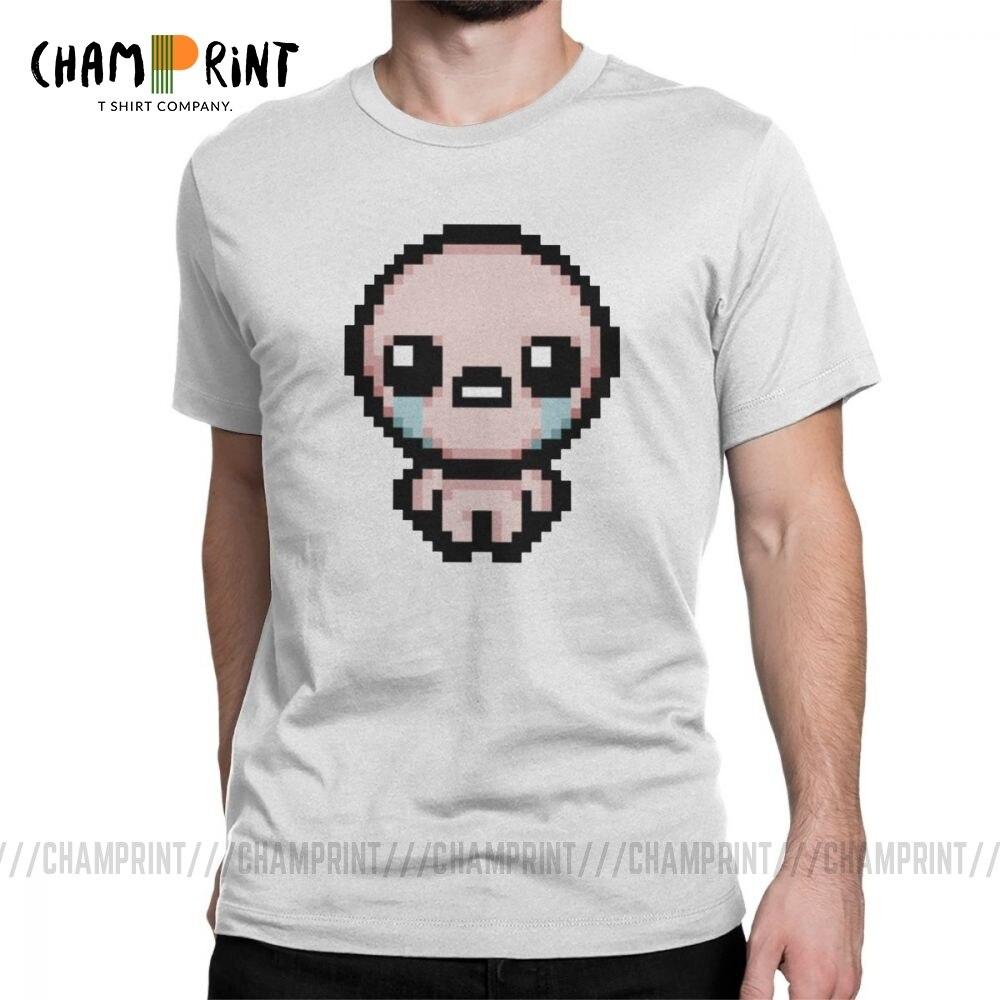 Camiseta a la moda The Binding Of LAC Pixel, camiseta para hombre de cuello redondo, Camiseta de algodón puro, camiseta de manga corta, ropa 4XL 5XL