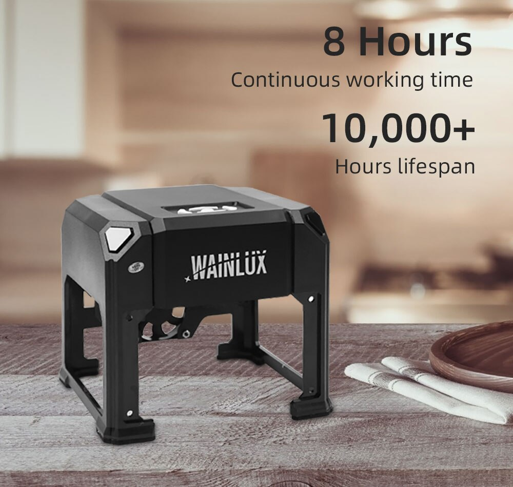 Wainlux K4 Pro 3000mW USB Laser Engraver Printer Cutter Carver DIY Logo Mark Engraving Machine CNC Home Use Bluetooth-compatible
