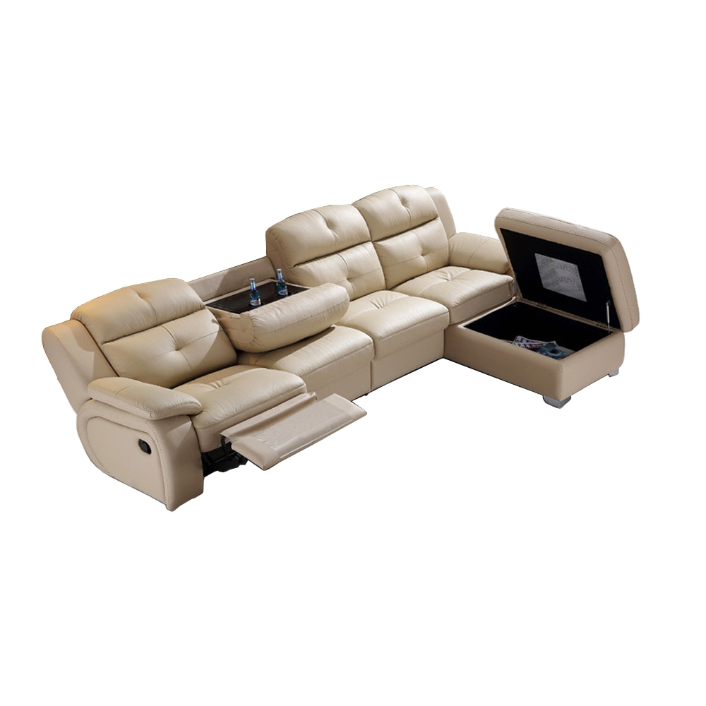 Living Room Sofa set L corner sofa recliner electric couch genuine leather sectional sofas L muebles de sala moveis para casa corner sofas loveseat chair leather mixed fabric living room sets modern design sectional corner leather fabric sofa l shape
