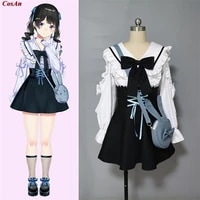 hot anime youtuber tsukino mito cosplay costume lovely elegant daily wear uniform activity party role play clothing custom make