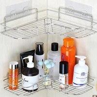 Support dangle damour en acier inoxydable Non perfore  etagere de rangement de cuisine  salle de bains  chambre a coucher  trepied epais