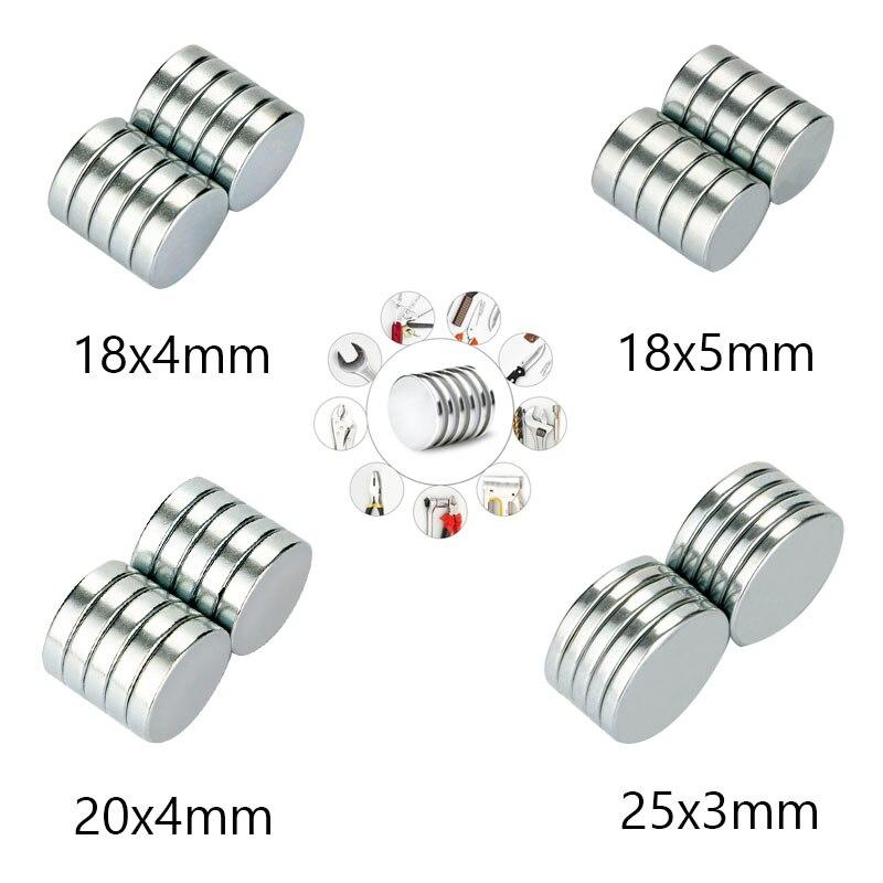 RKZCT-imanes de neodimio, imanes redondos de 18x4, 18x5, 20x4, 25x3, magneto para conexión artesanal en 4 tamaños, 30 unidades por lote