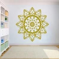bohemian style mandala wall decal vinyl mandala flower wall decals mandala wall decor waterproof yoga studio wall sticker hy1079