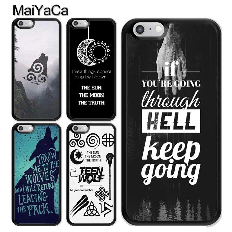 Чехол из ТПУ MaiYaCa TEEN WOLF DEREK SCOTT DYLAN с цитатами для iPhone 11 Pro MAX X XR XS MAX SE 2020 6S 7 8 Plus 5s