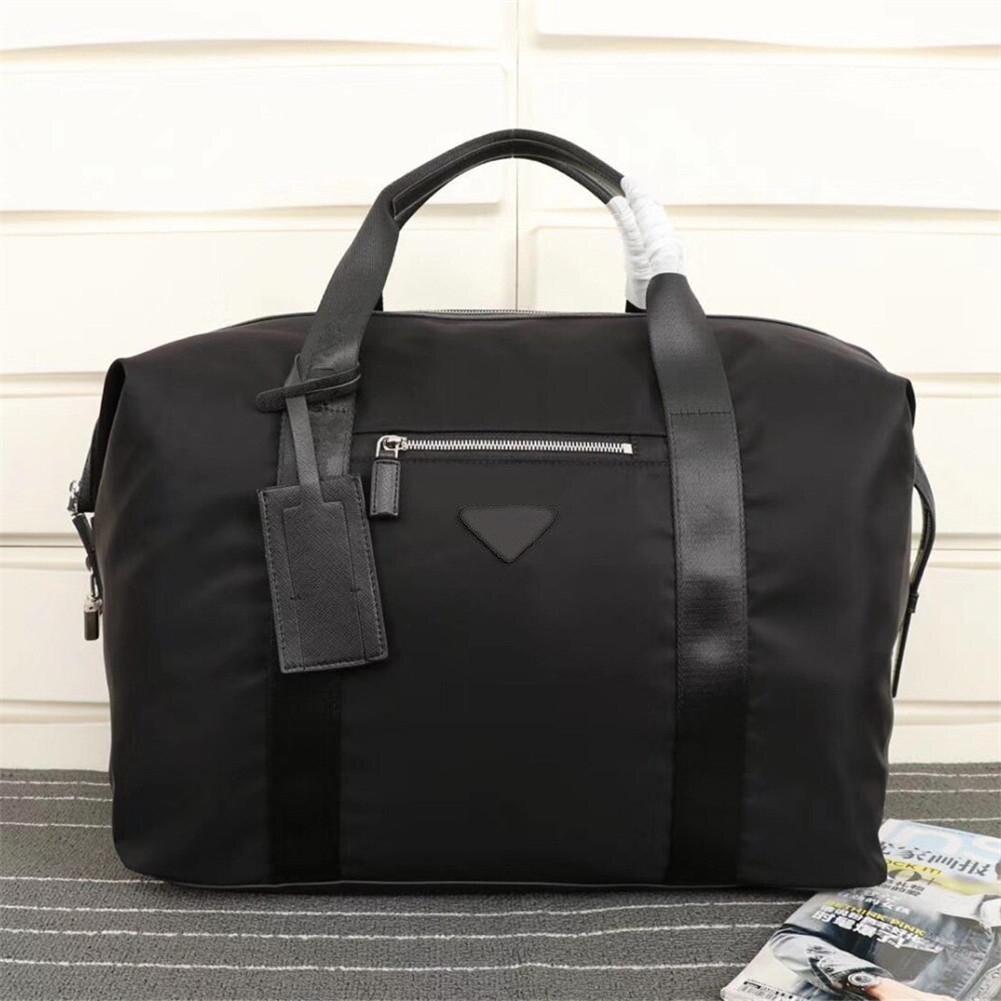 Men's black nylon canvas waterproof fashion leisure sports outdoor multi-function large-capacity travel bag