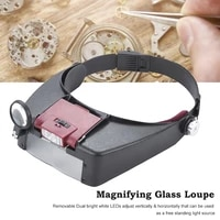 led head mounted magnifying glasses with led lamp magnifier magnifying glass loupes for reading jewelry watch repair