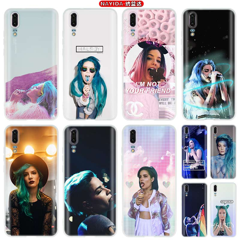 Mejor cantante halsey casos de teléfono para Huawei P40 P20 P8 P9 P10 p30 Lite 2017 Plus P 20 30 Pro P Smart 2019 Fundas