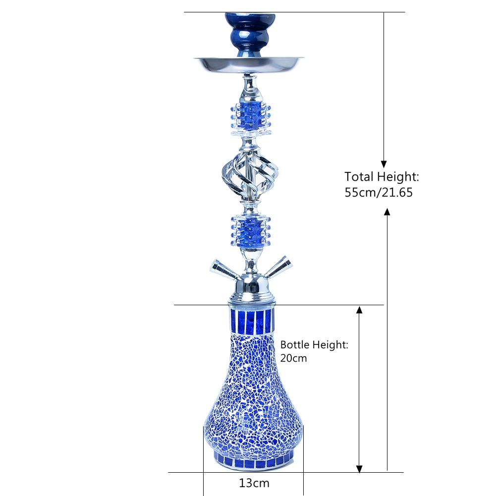 Glass Hookah Shisha Pipe Double Hoses Travel Hookah Removable Tongs Smoking Pipe Nargile Chicha Narguile Smoking Accessories enlarge