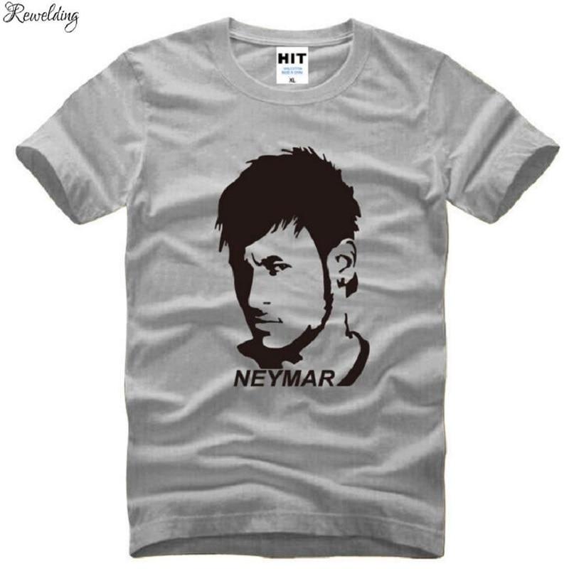Estrella, Neymar T impreso Camisetas hombres manga corta de algodón de cuello...
