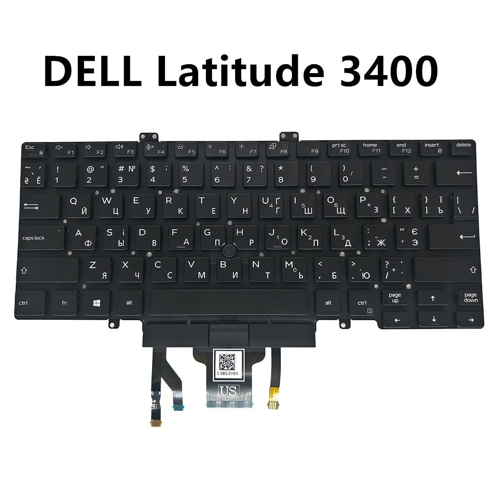 UA Ukrainian keyboard for Dell latitude 7400 3400 5400 5401 black with mobile pointer backlit 057T39 PK132FB2A13 DLM18G7 57T39
