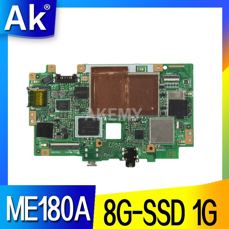 Akemy ل آسوس مذكرة الوسادة HD 8 ME180A ME180 أقراص اللوحة الرئيسية لوحة المنطق Mainboard k00l 100% TESED OK ث/8G-SSD/1G/qc1.6