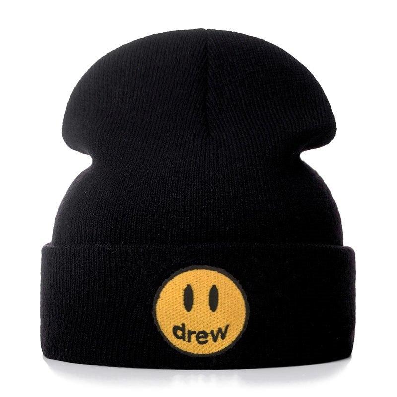 Джастин Бибер, Drew house, хлопковые повседневные шапочки для мужчин и женщин, вязанная зимняя шапка, одноцветная, хип-хоп, Skullies, шапка унисекс