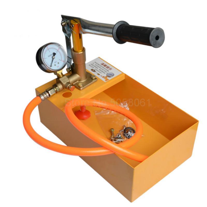 Bomba de prueba de presión Manual, máquina de presión para tubería ppr, dispositivo de presión para tubería de agua, bomba de presión portátil para calefacción de suelo