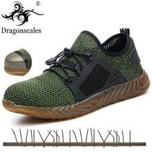 2020 New Ryder Shoes Mesh Safety Shoes Men Light Sneaker Indestructible Steel Toe Soft Anti-piercing