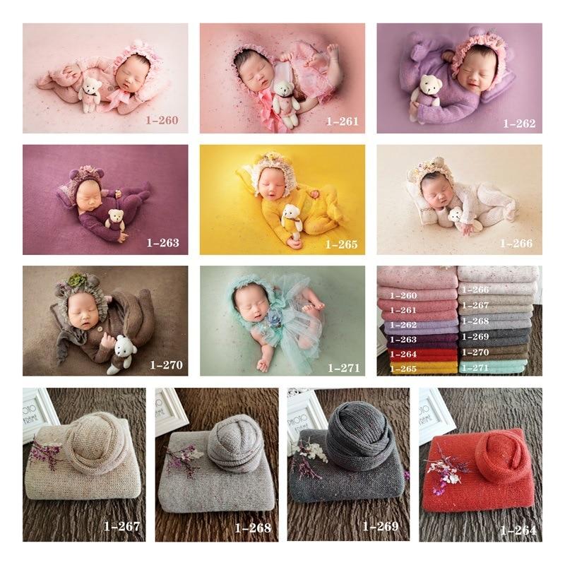 Newborn  Photography Props  Blanket  Baby  Knitted Blanket Swaddling Photo Backdrop Shoot Studio Fotografia Background