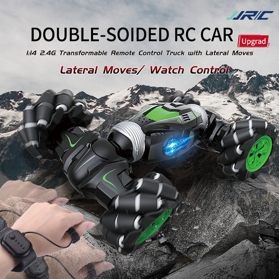 Coche JJRC Q78 RC 4WD 114 2,4G, coche trepador de pared, coches anfibios transformables con rotación de 360 grados, coche acrobático de Control remoto VS Q70