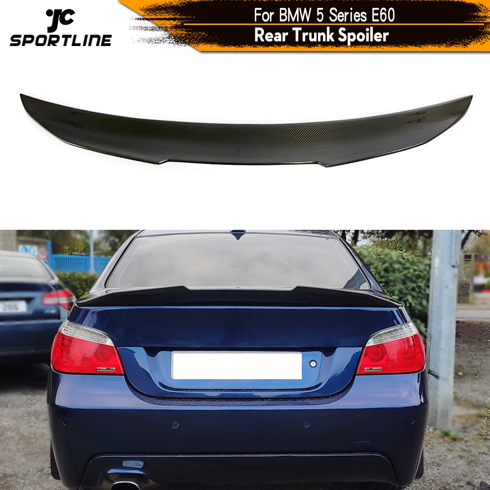 carbon fiber rear lip spoiler wings for ford mustang gt v8 v6 gt350r coupe 2015 2016 2017 rear trunk boot spoiler car styling Carbon Fiber Rear Trunk Spoiler for BMW 5 Series E60 Base Sedan M Tech M5 2004 - 2009 Rear Trunk Wing Spoiler Boot Lip