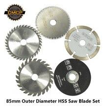 85mm outil de coupe lames de scie pour outil électrique lame de scie circulaire pour bois HSS lame de scie Dremel Cutter circulaire Mini lame de scie