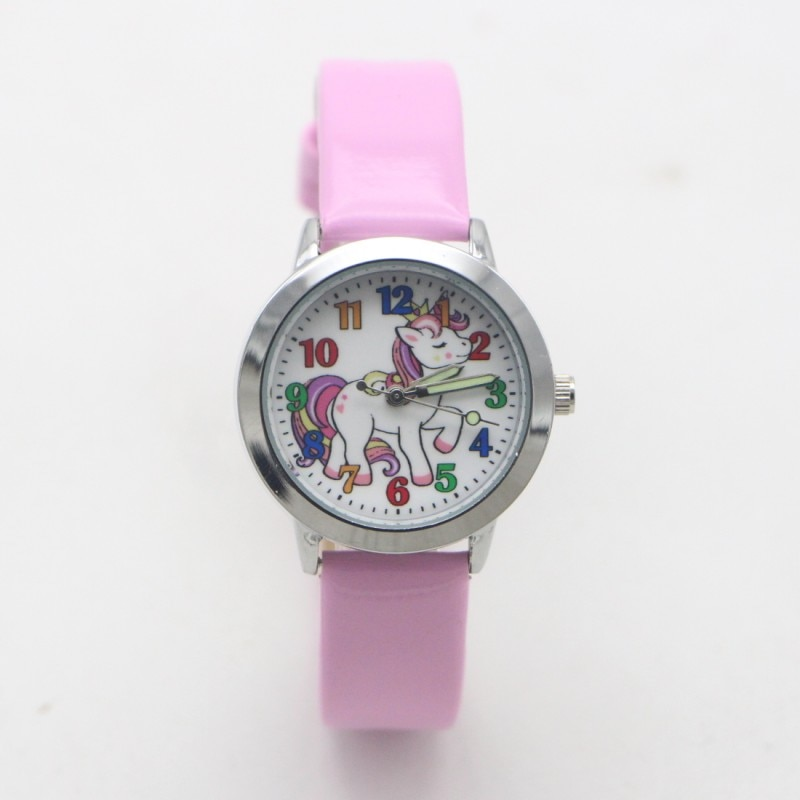New Arrival Fashion Quartz Kids Cartoon Unicorn Horse Watch Children Student Girls Boys Watches Relo