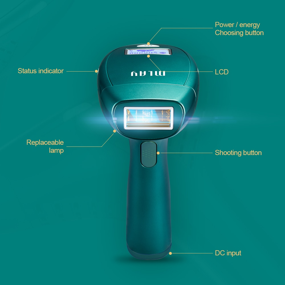 MLAY M3 Portable home depilador a laser ipl laser hair removal machine with one hair removal lamp 500,000 shot for Free Shipping enlarge