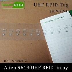 Tag RFID UHF inlay Alienígena 9613 seco 915mhz 900mhz 868mhz 860-960MHZ EPC Higgs3 C1G2 ISO18000-6C smart card passiva RFID tag etiqueta