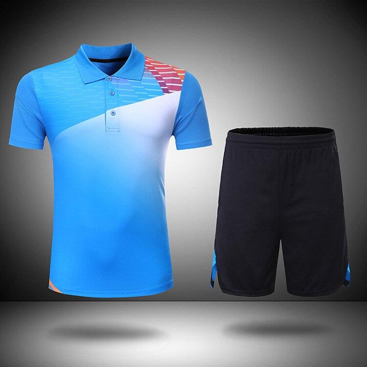 Ropa Deportiva de bádminton, ropa de camiseta, pantalones cortos deportivos de tenis de mesa de secado rápido de poliéster, camiseta de tenis, traje para hombres