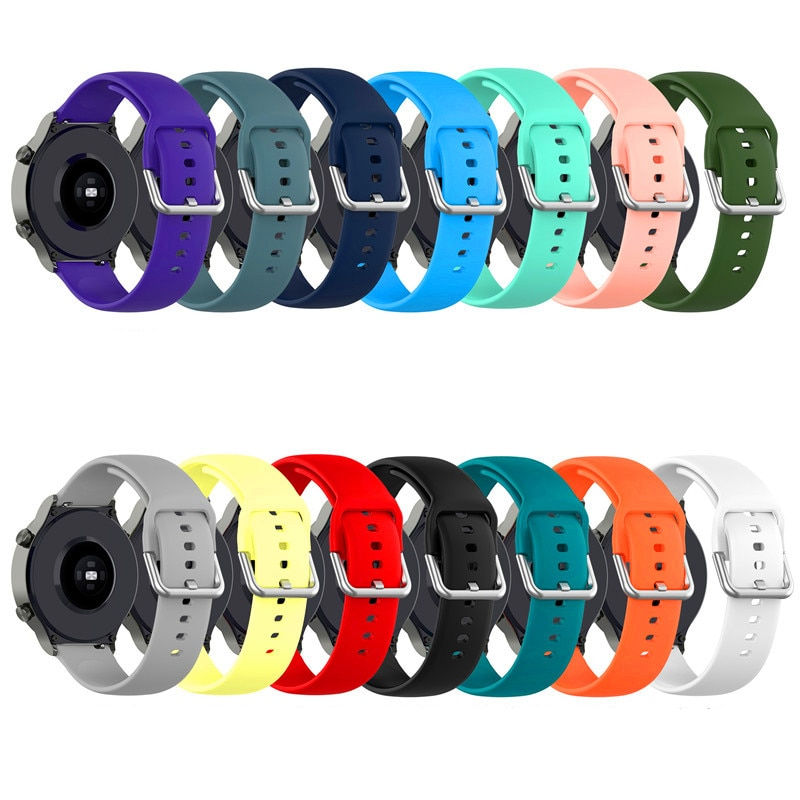 yayuu 22mm universal top quality vertical nylon watchband sports strap adjustable wristband replacement smart watch straps Silicone Watchband Suitable for Huawei Watch GT2 Pro Watch Replacement Strap New Buckle Sports 22mm Wristband Universal 22mm