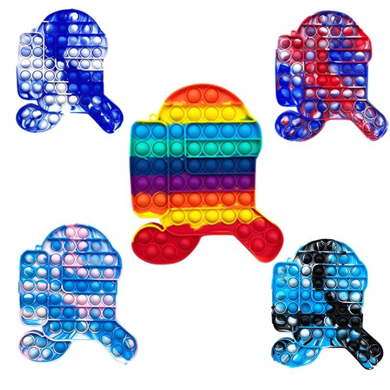 1PC Push Bubble Fidget Sensory Toy Autism Special Needs Stress Reliever Toys Push Bubble Fidget Sens