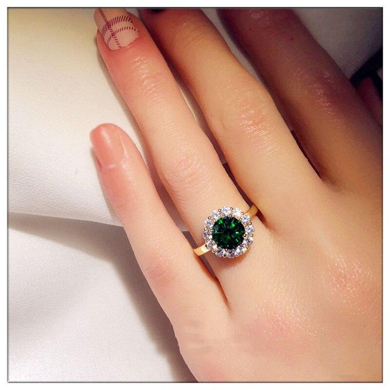 Anéis de jóias vintage para mulher s925 prata esterlina esmeralda zircônia cúbica quilates anel indicador aberto dedo fino bijoux femme