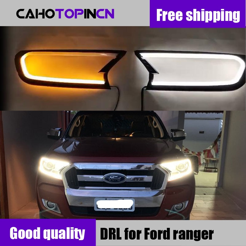 LED DRL diurna cubierta de faro para ford ranger T7 2016-2018 accesorios para ford ranger ford everest empresa 2017