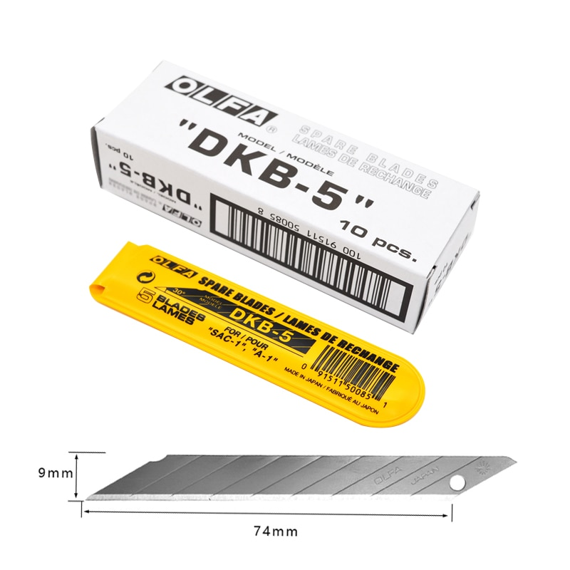 Сделано в Японии OLFA DKB-5 30 градусов острый угол арт лезвие обои/автомобильная пленка лезвия 50 шт.