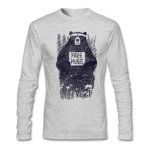 Индивидуальные футболки топы уличная одежда доброта обнимает к страннику Hi-fashion мужские свободные объятия с длинным рукавом мультфильм 100% ...