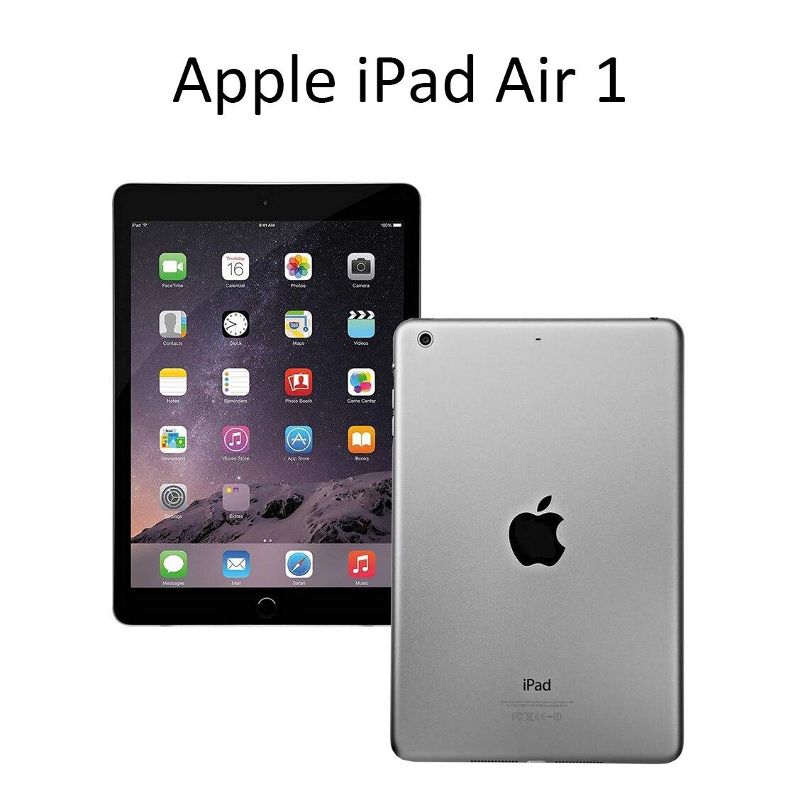 Apple-ipad air 1 90%, 16 gb/32gb, memória flash, 9.7 polegadas, 2048x1536, não toque, id, pc, espaço cinza/prata