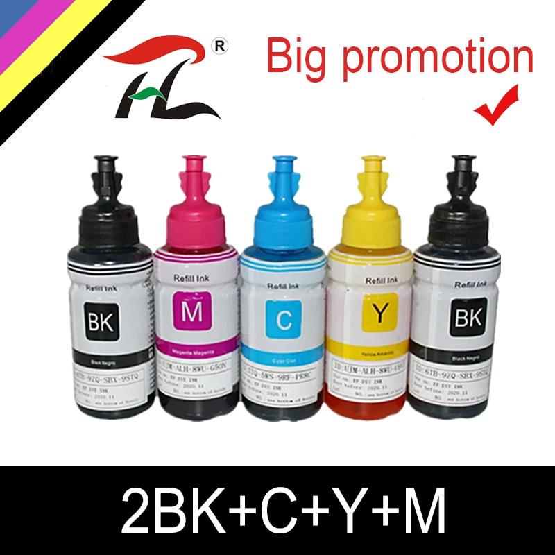 HTL 350ml dye-tinte refill tinte kompatibel für epson L200 L210 L222 L100 L110 L120 L132 L550 L555 L300 l355 L362 L366 drucker tinte