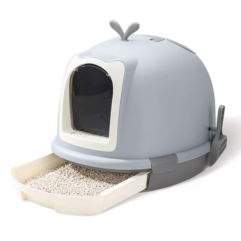 H1 Fully Enclosed Cat Litter Basin Deodorization Super Large Anti-splash    Anti-odor     Toilet