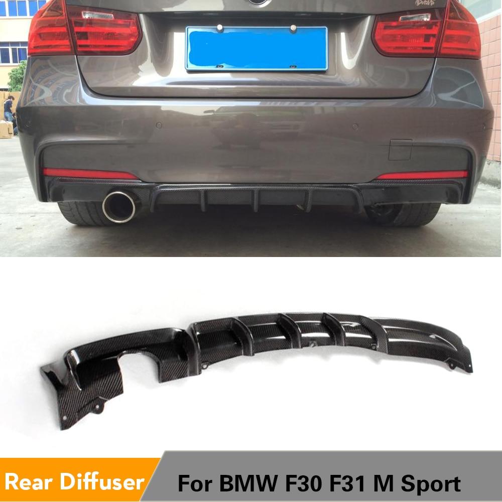 Углеродное волокно/FRP задний бампер диффузор спойлер протектор внешний для BMW F30 F31 M спортивный бампер 2012 - 2017